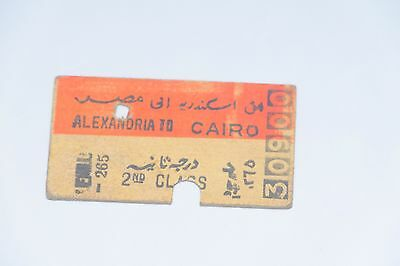 WW2 RAIL TICKET, North Africa Alexandria to Cairo