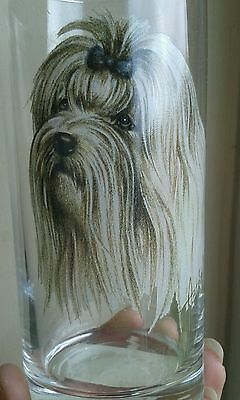 A Collectable Maltese Dog Drinking Glass