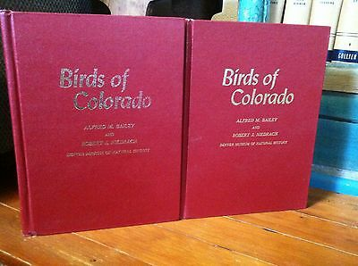 BIRDS of CO by BAILEY & NIEDRACH, Denver Museum of Natural History, Vols. I & II