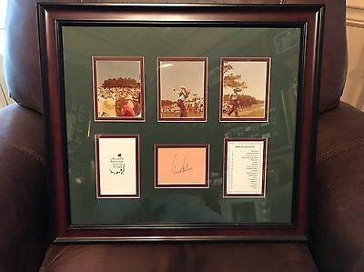 Arnold Palmer Masters Golf Signed Framed Picture  Matted Beautiful