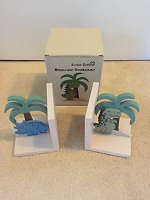 sass and belle Dinosaur Bookends In Box