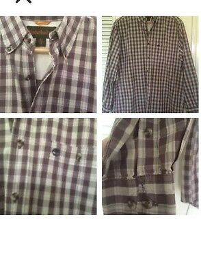 Men's Shirt Check Long Sleeved Size M BY TIMBERLAND