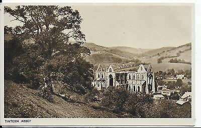 Lovely Early Vintage Postcard,tintern Abbey ,monmouthshire