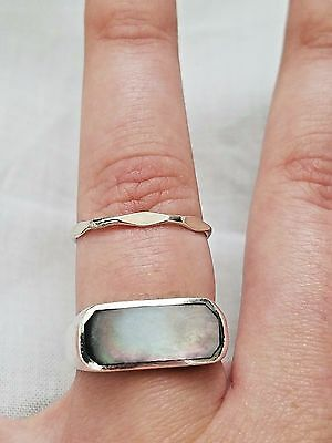 Lot of Vintage Sterling Silver Rings, Shell, Art Deco Engraved, Estate Jewelry