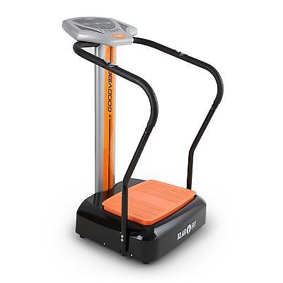 Vibration Plate Training Massage Balance Vibro Fitness Heart Rate Monitor Orange