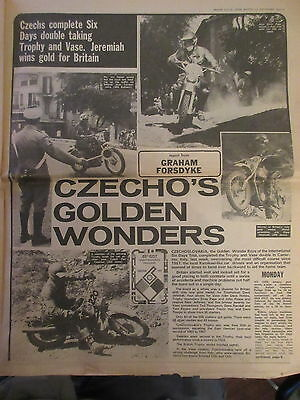 ISDT nos 49 newspaper x 4 pages 1974 Motor Cycle Week