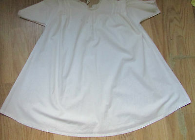 Linen Vintage Nightdress with Applique Work, Embroidery and Lace