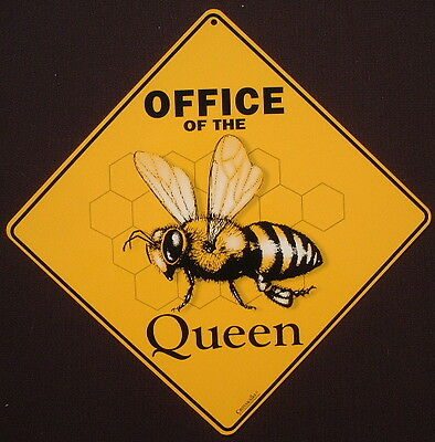 BEE CROSSING SIGN aluminum office decor queen apiary honey home  picture novelty