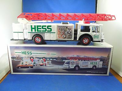 Vintage 1989 Hess Toy Fire Truck with Dual Sound Siren Head and Tail Lights