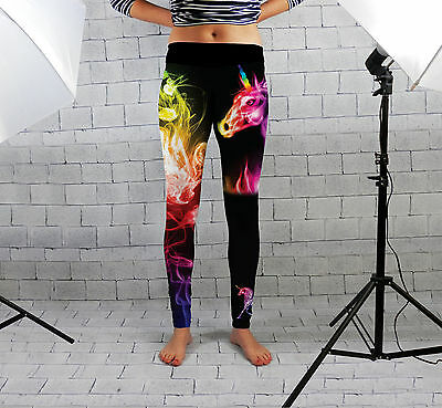 Licorne Arc-en-ciel Conception Femmes Spandex Leggings Gym Fitness Yoga