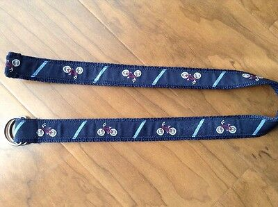 Toddler Boys Belt-Gymboree 2/3T Blue with Embroidered Bicycles Very Cute! UEC