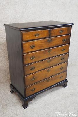 By Virginia Craftsmen Antique Style Rock Maple Highboy Chest of Drawers Dresser