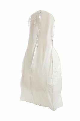 "White Huge Vinyl Wedding Dress Gown Garment Bag - Extra Long with 12"" Gusset ..."