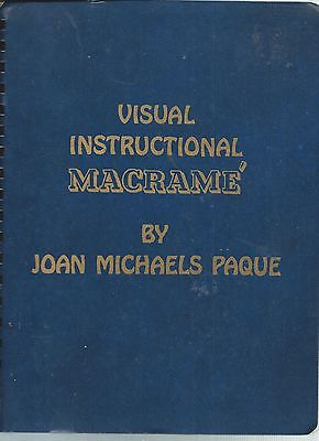 VISUAL INSTRUCTIONAL MACRAME' by Paque Textile Media Art Instruction Knot Cord