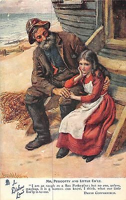 POSTCARD  DICKENS    LAND   Mr  Peggotty  and  Little  Em'ly       TUCK