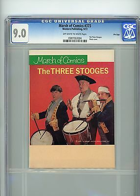 """March of Comics #373 The 3 Stooges CGC 9.0 """"File Copy"""""""