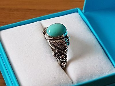 South Western 925 Silver Turquoise Ring size N