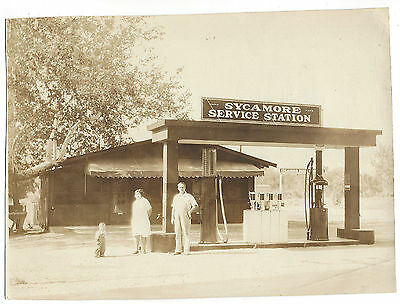 17. Vintage Photo Sycamore Service Station / Picnic Grounds / Gravity Gas Pumps