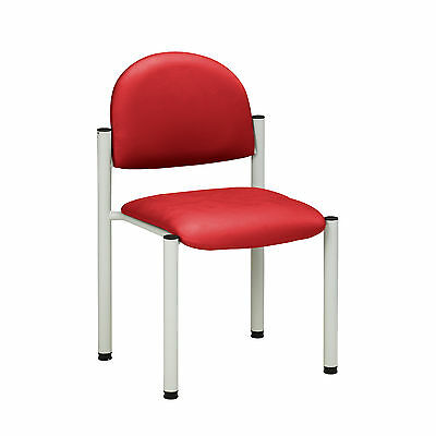 Gray Frame Chair with no arms-Tomato  1 ea