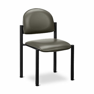 Black Frame Chair with no arms-Warm Gray  1 ea