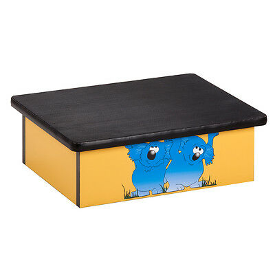 Koala Yellow Laminate Step Stool  1 ea