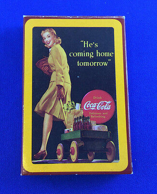 """Vintage 1992 Coca-Cola Bridge Playing Cards """"He's Coming Home Tomorrow"""""""