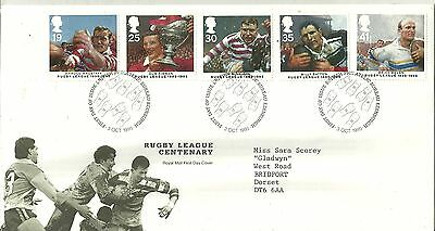GB FDC: Rugby League Centenary 3 Oct 1995 h/s