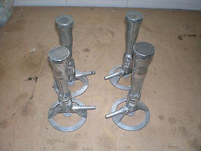 Lot of 4 Fisher Lab Laboratory Bunsen Burners Model 1201-21
