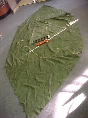 Vintage 1950's US Army Military Half Pup Tent Lean To Hiking Camping