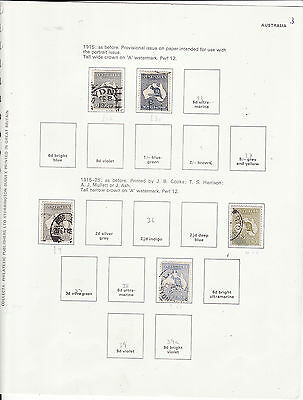 Australia - Early Roos 13 Used Stamps On Leaves Odd Stamp Mixed Condition