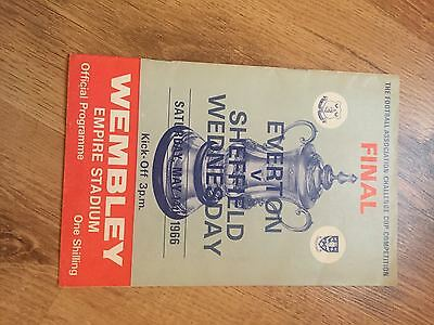 1966 FA Cup Final Programme Everton v Sheffield Wednesday  Excellent Condition
