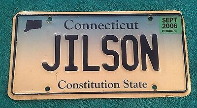 Jilson Vanity Ct Connecticut License Plate Collector Sept 2006