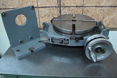 "BRIDGEPORT 12"" ROTARY TABLE w/RIGHT ANGLE BRACKET"