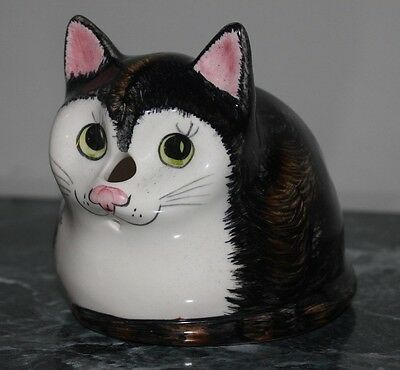 Vintage Babbacombe Studio Art Pottery Cat String Holder - Table Or Wall Mounted