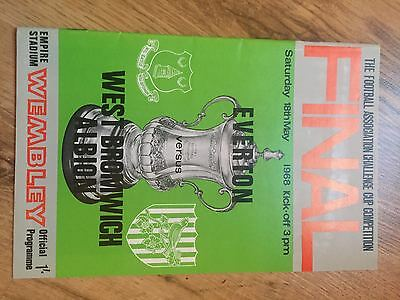 1968 FA Cup Final Programme Everton v West Brom  Excellent Condition