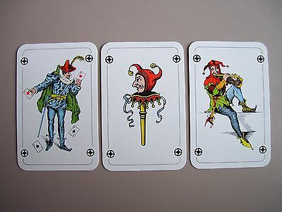 Jokers==== 3 Different Patience Size Single Joker Playing.cards.(New=Mint)