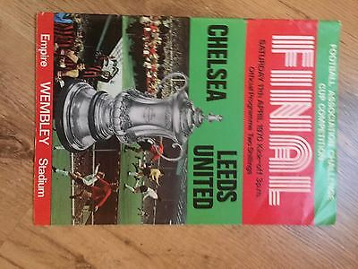 1970 FA Cup Final Programme Chelsea v Leeds United  Excellent Condition