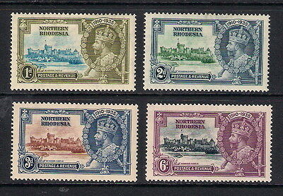 Northern Rhodesia 1935 KGV Silver Jubilee, SG18/21, mounted mint