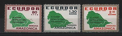 Ecuador 1897 On Issue 1894 President Rocafuerte Surcharged Big Numbers #78 81-83