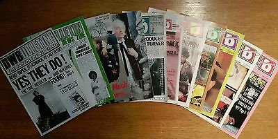 Doctor Who Bulletin / DWB Dr Who fanzine - job lot of 11 issues - 1984-1989