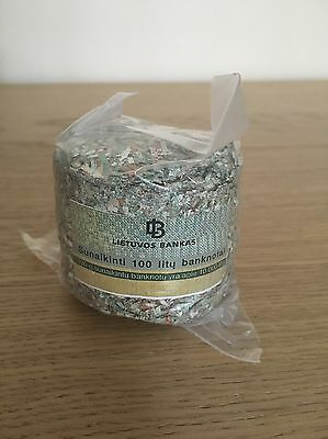 Shredded ~ 13 500 Lithuanian Litas, Rare, Banknote, Collection note. Great Gift