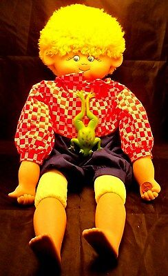 1992 Barbara A. Hock Uniquely Yours Boy Doll Frog Country