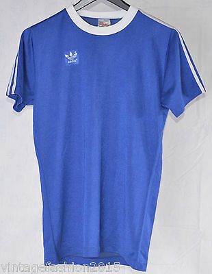 VINTAGE OLD ADIDAS CAMISETA SHIRT FOOTBALL SOCCER 70s MADE IN WEST GERMANY