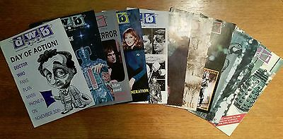 Doctor Who Bulletin / DWB Dr Who fanzine - job lot of 10 issues - 1990-1991