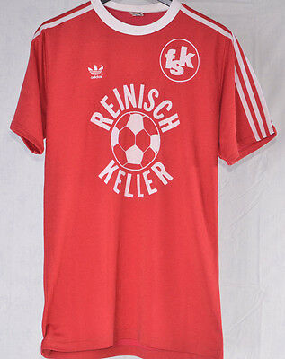 VINTAGE OLD ADIDAS CAMISETA SHIRT TRIKOT FOOTBALL  80s MADE IN WEST GERMANY