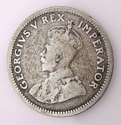 South Africa 1929 6 Pence Silver Coin Free S/H #7251