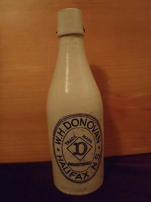 W.H. Donovan  Halifax ginger beer bottle Nova Scotia stoneware 1800's W.S. & Co.