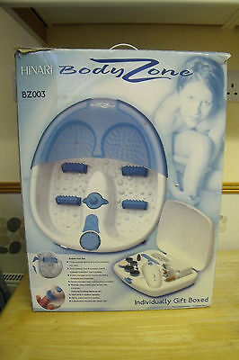 Hinari Body Zone Foot Spa For The Feet+9 Piece Manicure Set Brand New & Boxed