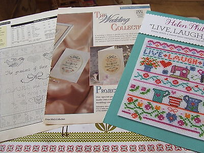 Cross Stitch Charts - Wedding & Sampler - 5 Designs In All