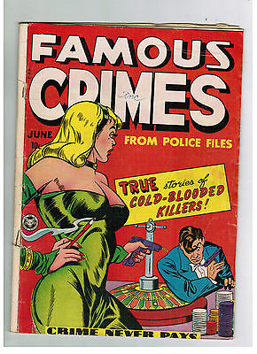 FAMOUS CRIMES COMIC No. 1 from 1948 Fox Feature Syndicate Blue Beetle
